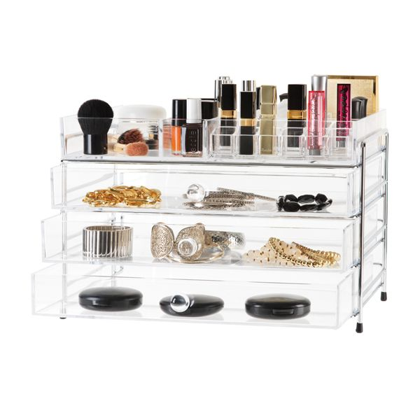 The organizer that your friends will envy! Three drawers and organizing tray top