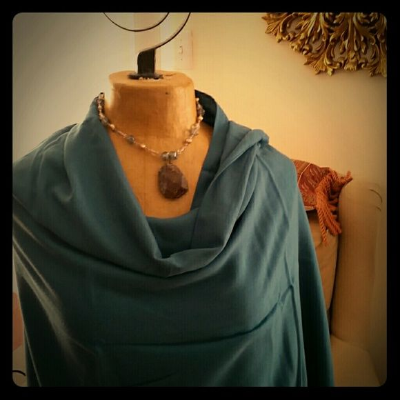 Pashmina Wrap  ☆☆☆NWOT Beautiful rich Teal wrap. I'll call it Mermaid! Drapes beautifully for unlimited possibilities. Lovely weight transcends the seasons. Acrylic / Viscose blend. Made in Italy. echo Accessories Scarves & Wraps