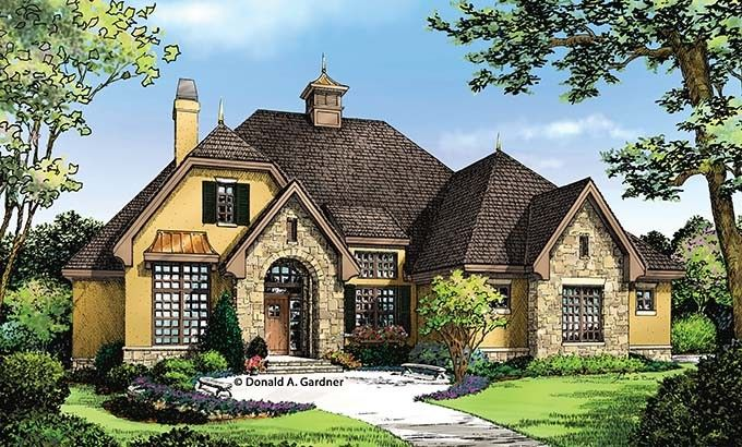 French Country House Plan with 1715 Square Feet and 3 Bedrooms from Dream Home Source | House Plan Code DHSW076900