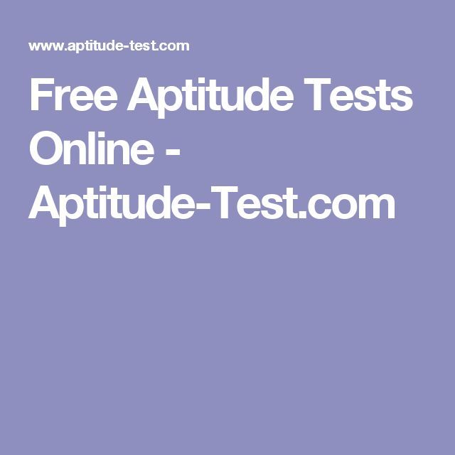 The  Best Free Aptitude Test Ideas On   Career