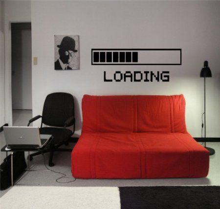 Amazon.com: Loading Mark Sign Geek Cute Design Wall Vinyl Sticker Decals Art Mural D2110: Home & Kitchen