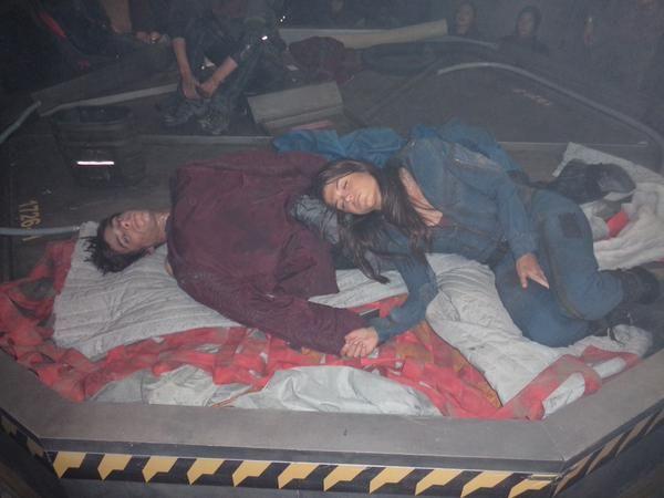 Devon Bostick and Marie Avgeropoulos || The 100 cast behind the scenes || Jactavia || Jasper Jordan and Octavia Blake