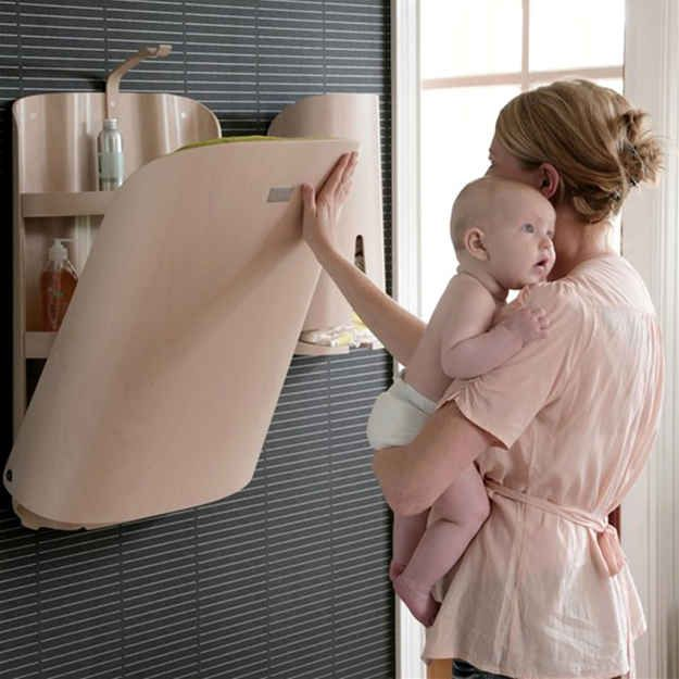 Space-Saving Wall-Mounted Changing Table