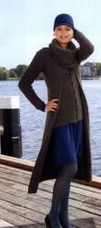 """Схема вязания: Жакет, кардиган и шарф """"труба""""   Пуловеры спицами - petelka.net"""