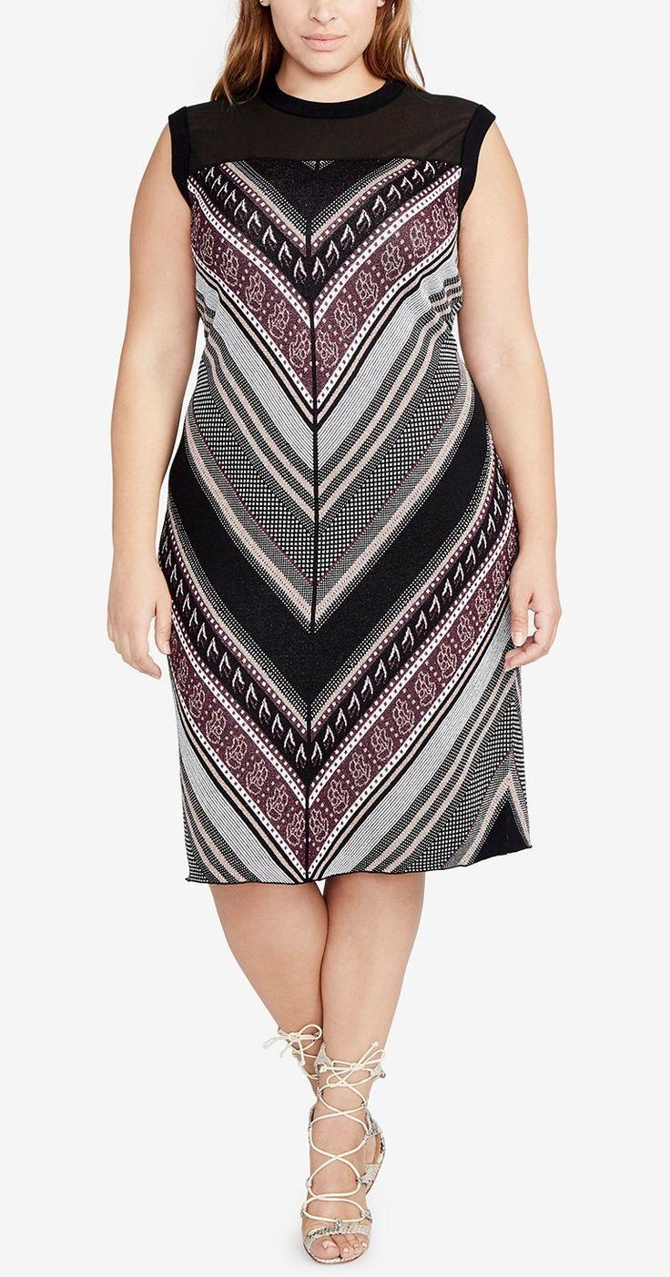 Plus Size Chevron Sweater Dress