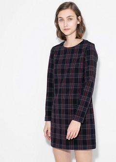Robe écossaise à carreaux - Robes pour Femme | MANGO