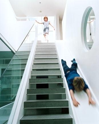 Stairs or slide?
