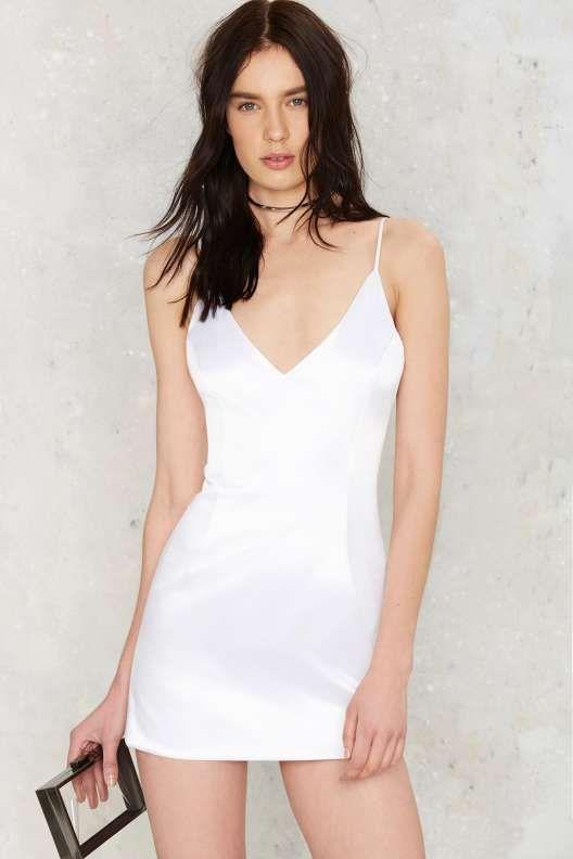 Kristi Satin Mini Dress - What's New