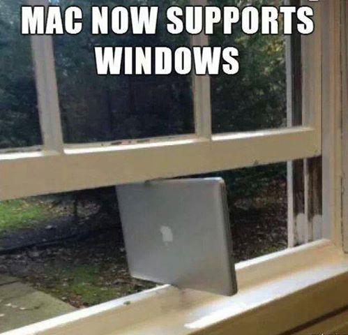 MAC supports WINDOWS