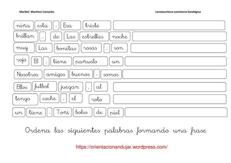 Conciencia fonológica de frases - Orientacion Andujar