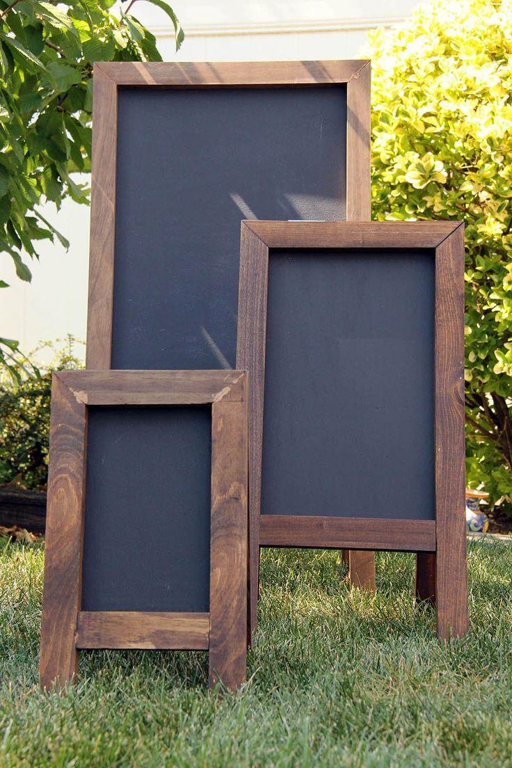 Diy Chalkboard Easels Diy Ideas Pinterest Chalkboard