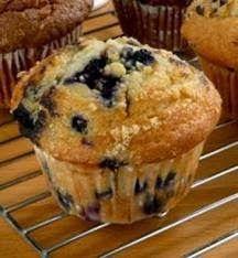 Mine Oppskrifter: Amerikanske Blåbærmuffins