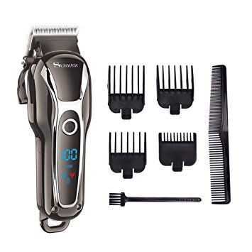 SURKER Cordless Hair Clippers Man's Grooming Kit Haircut Kit For Men Beard Trimmer Shaver Rechargeable… Review