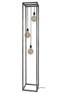 Vloerlamp Rimini zwart staal ( 3x42W ) voor afwisseling in je interieur