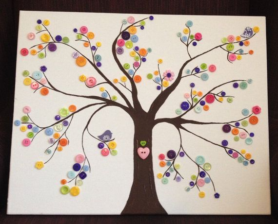 Button Tree by byStudio1232 on Etsy