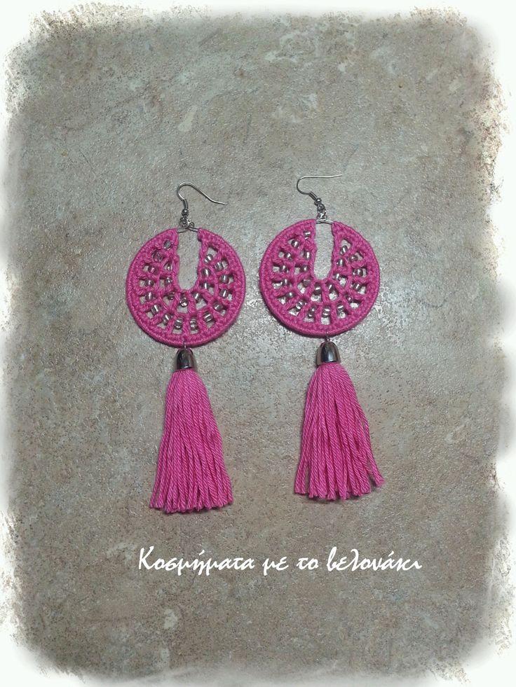 crochet long earrings!