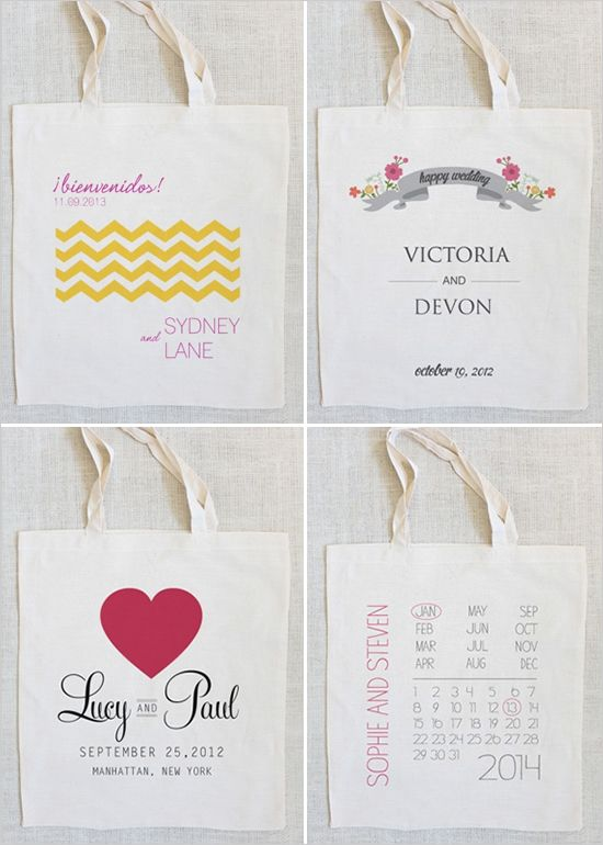 custom wedding totes