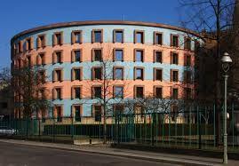 Een ronde vorm van een gebouw