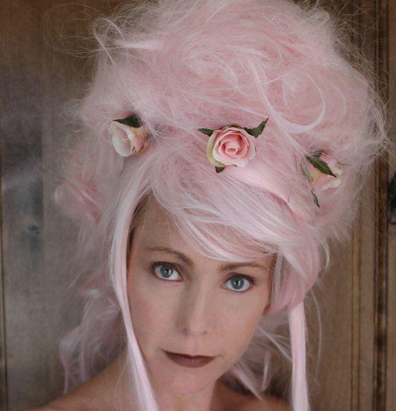 Marie Antoinette Wig // Ooak Pink Wig Wearable by TiffanyDeMichele, $205.00