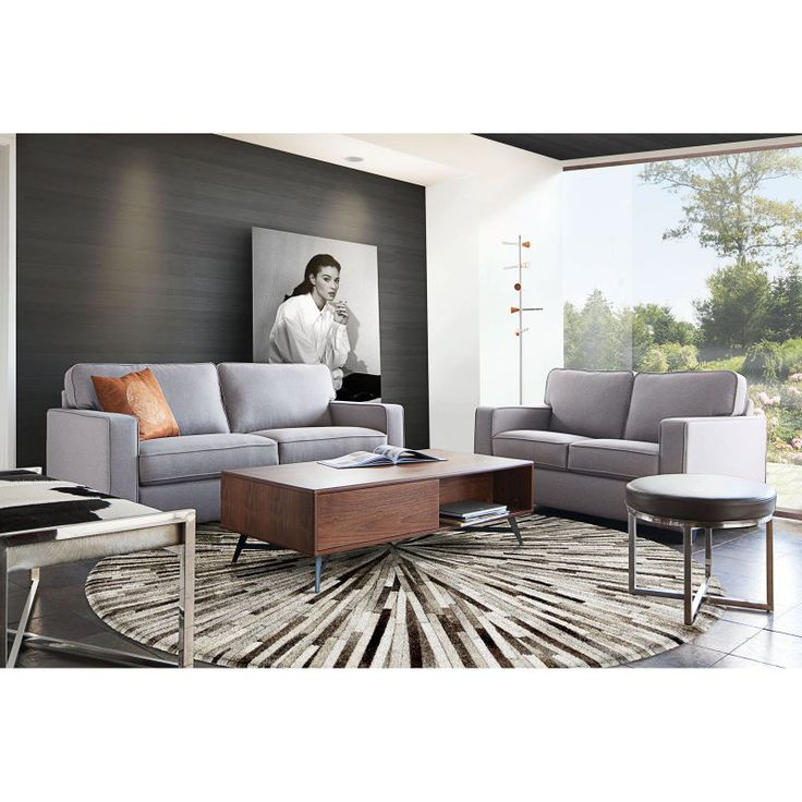 Diamond Sofa Watson Sofa And Loveseat Set   Light Gray   WATSONSLLG