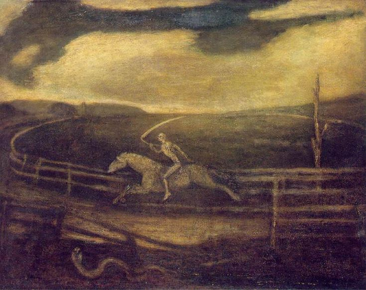 ALBERT PINKHAM RYDER, THE RACE TRACK (DEATH ON A PALE HORSE)