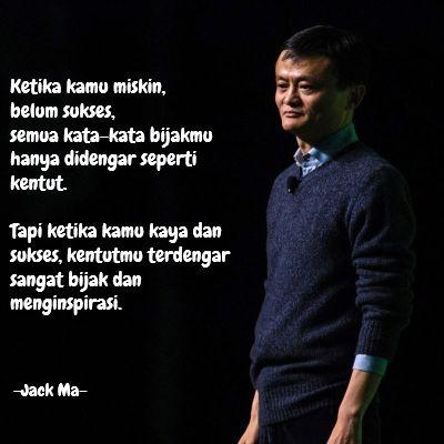 Kata Bijak Jack Ma Kentut Cikimmcom