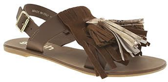 Womens dark brown tan sunset sandals from Schuh - £45 at ClothingByColour.com