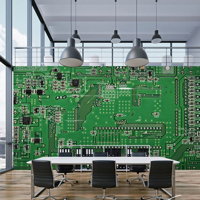 Love computers or woring in IT sector? This mural will make you proud of your walls.  #stawsky #design #murals #wallswork #tapetomat #wallpaper #wallpapers #designer #artist #tapeten #tapety #fashion #decorate #diy #wall #walls #vintage #retro #loft #silicon #comingsoon #IT #art #computers #chip #home #house #interior #interiordesign