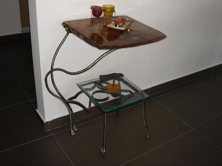 side table by MsArt Sidiropoulos Hank