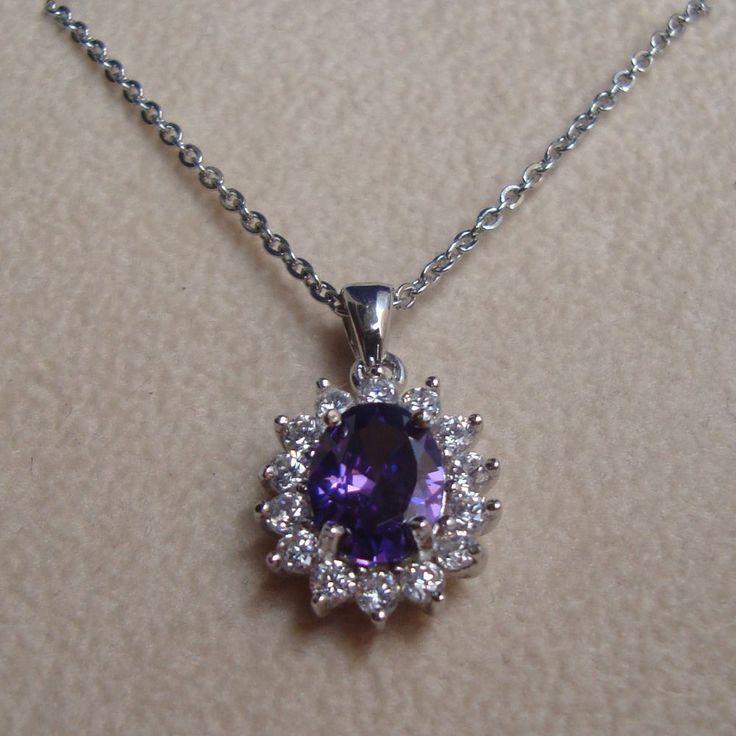 4You Jewels Collana donna in argento con zircone color ametista GioielliVarlotta