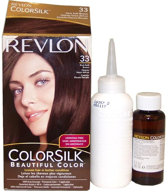Unisex Revlon colorsilk Haircolor #33 Dark Soft Brown 3WB Hair Color