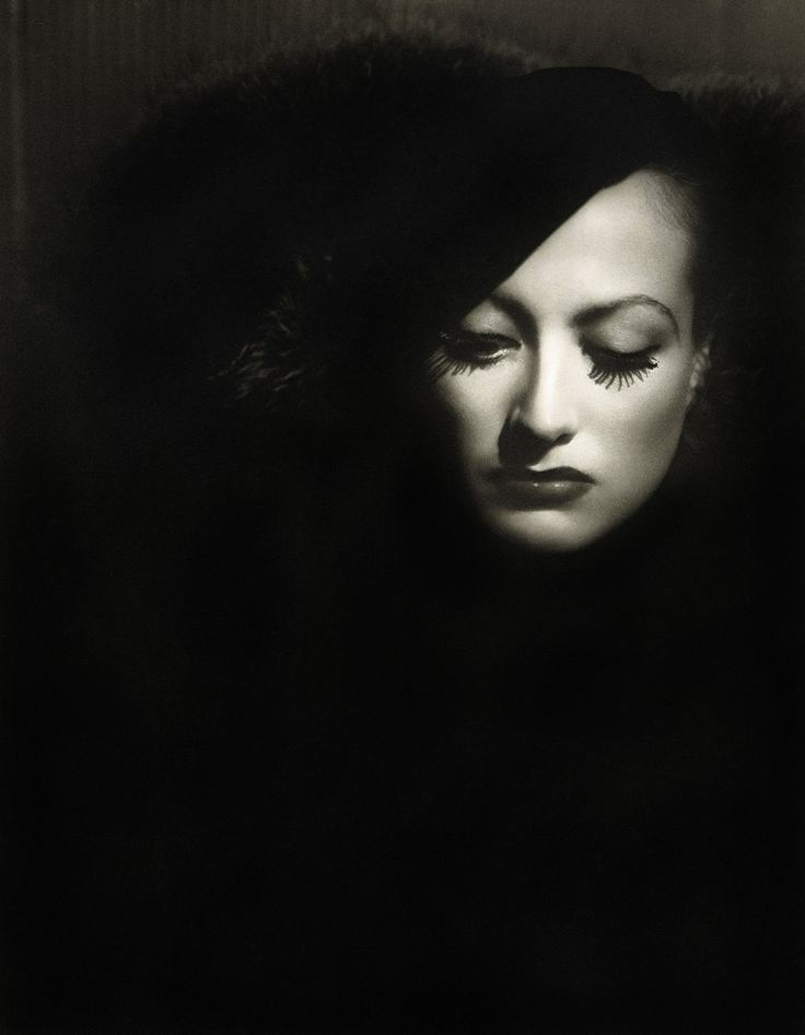 "George Hurrell - Portrait of Joan Crawford in ""Letty Lynton"", directed by Clarence Brown, 1932. ☀"