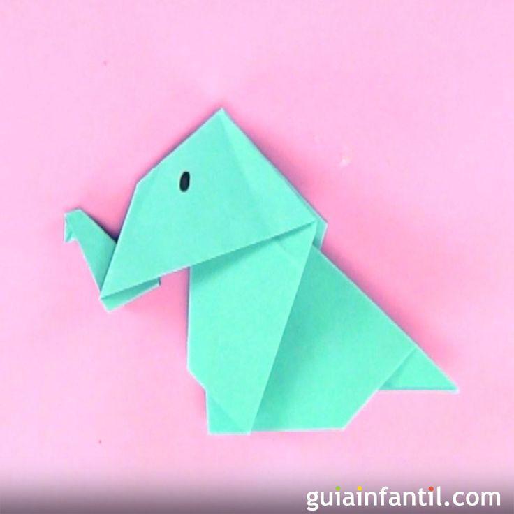 Cómo hacer un elefante de origami.