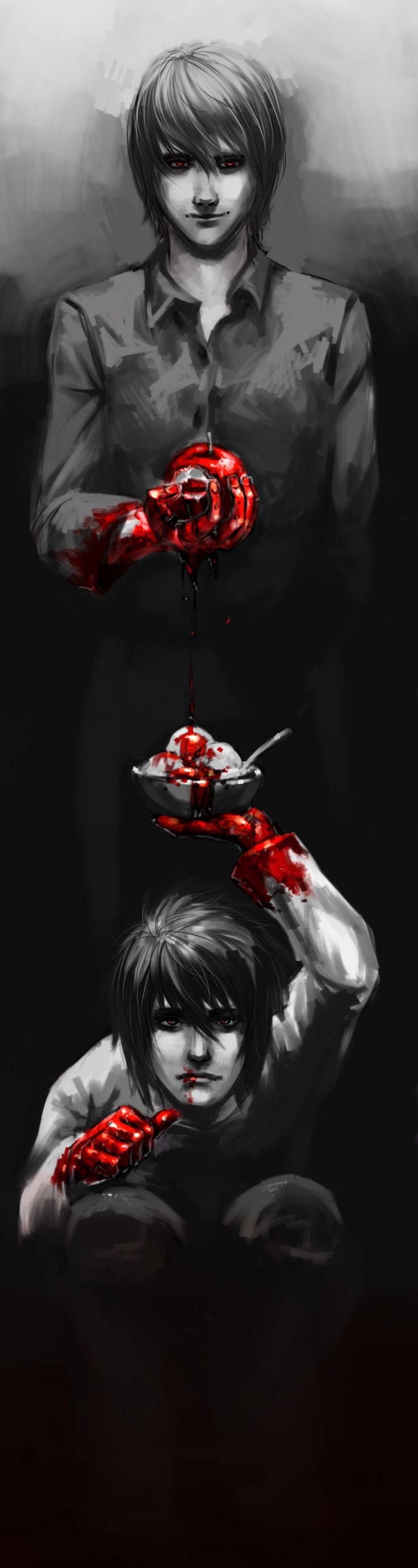 """Death Note: Blood On Our Hands by swift-winged-soul.deviantart.com on @DeviantArt""  Holy shit I love this so much."