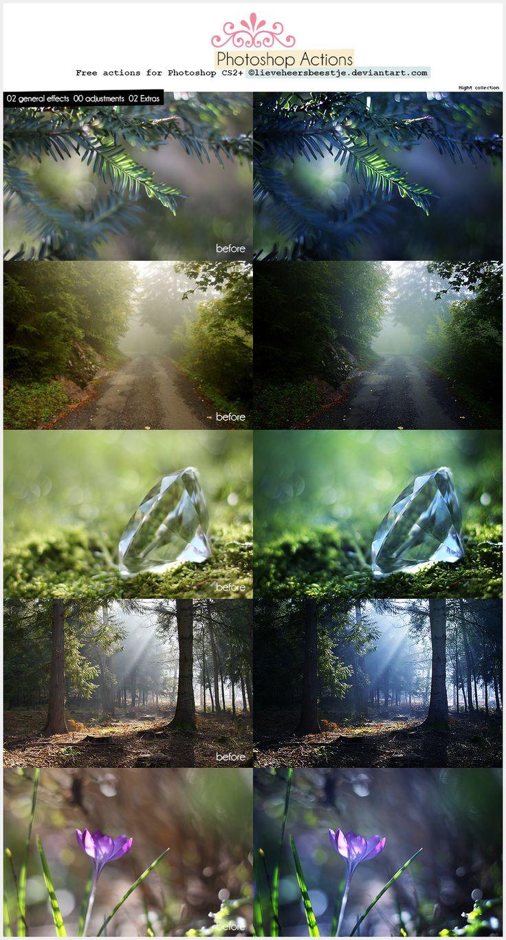 Photoshop Night Actions by lieveheersbeestje.deviantart.com on @deviantART
