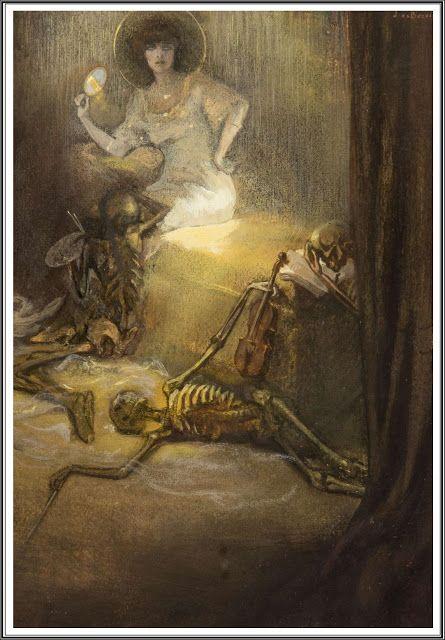 """""""Un Fantôme"""" by Jan Frans De Boever- 1910 #ancient #illustration #art"""