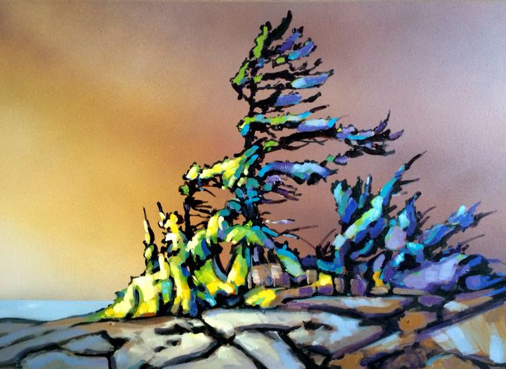 """ Spectacle on the sky""By Jerzy Werbel www.werbeland.ca # landscape#Canada#painting# art# the sky"