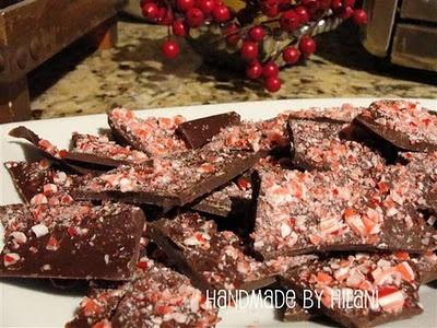 peppermint bark  Christmas dessert, sweet treat