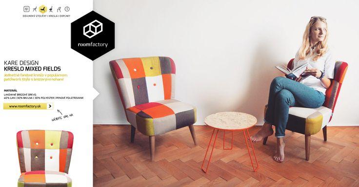 Máte radi farebné čalúnenie v štýle patchwork? Opäť odovzdávame kvalitné dizajnové kreslá z dielne mníchovskej značky Kare Design. Spoznajte aj naše ostatné kreslá a doprajte si pohodlie.