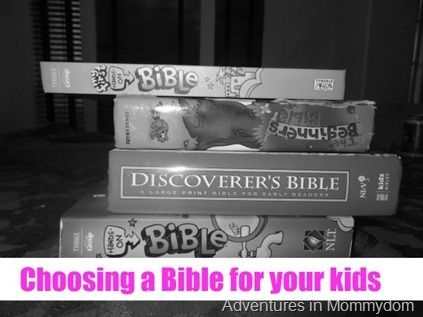 Choosing a Bible for your kids