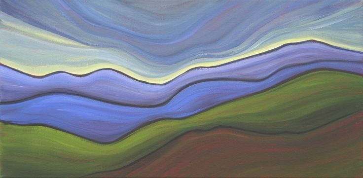 Sage Mountain Studio: Hill Country Abstract Paintings - The 'Wavy Lines Project'