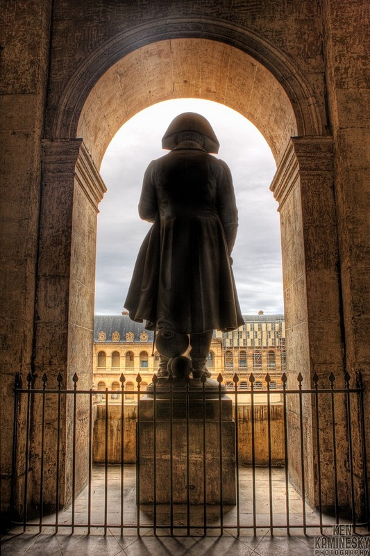 Statue of Napoleon Bonaparte at les Invalides in Paris