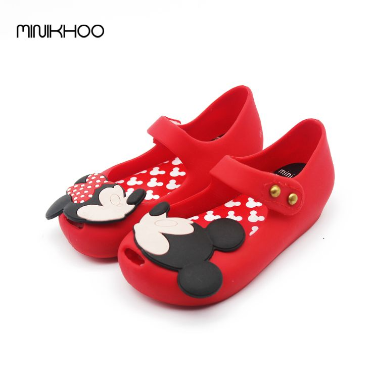 Mini Melissa Original Girls Sandals Shoes Mickey Minnie Sandals Children Jelly Sandals Lovely Baby Melissa Sandals High Quality #Affiliate