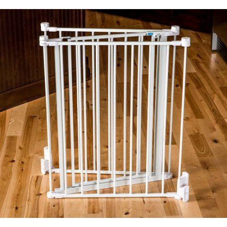 Carlson Flexi Extra Tall Walk-Thru Pet Gate, Multicolor