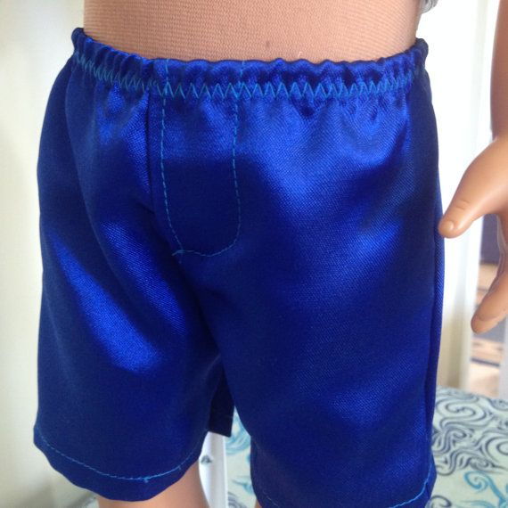 Satin boxer shorts in a style suitable for 18in boy by TangledKat