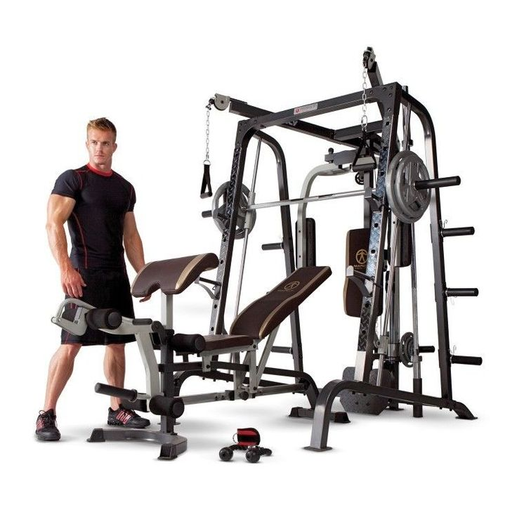 Details About Marcy Home Gym Smith Cage System Md 9010g