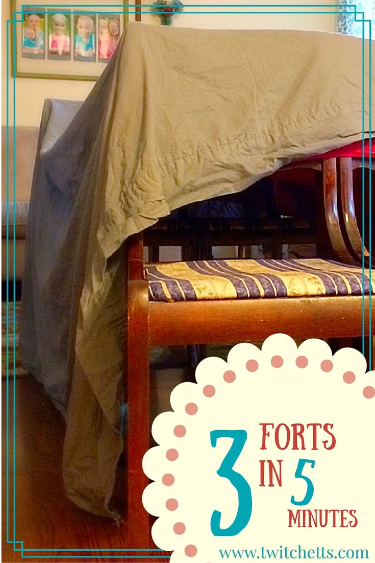 5 Homes That Prove That Less Is More: How To Build Forts In 5 Minutes Or Less