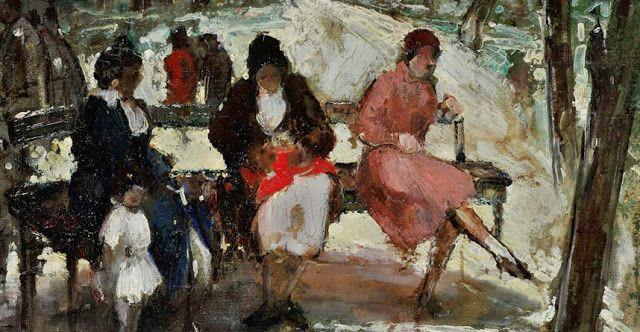 Θεόφραστος Τριανταφυλλίδης,Women in the Royal Gardens, 1937