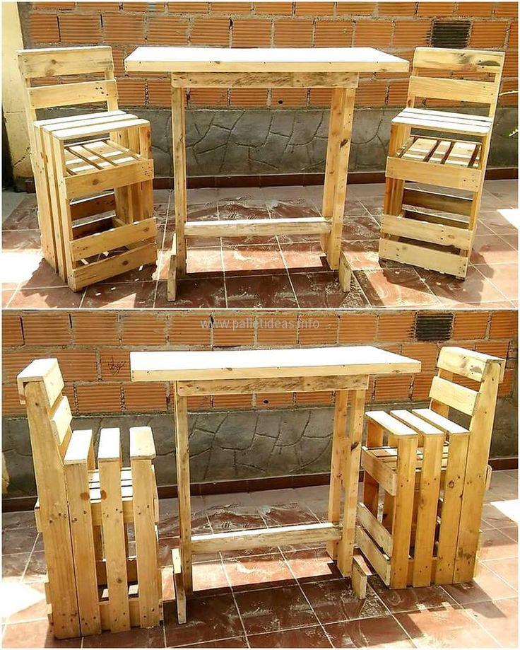 wooden pallet furniture paletten pinterest. Black Bedroom Furniture Sets. Home Design Ideas
