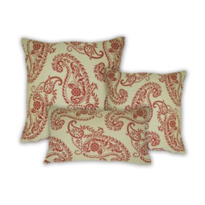 Red Paisley Outdoor Pillows 95